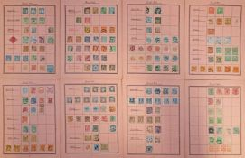 8 Bögen Briefmarken Privat-Post 19./1.H.20.Jh 19./1.H.20.Jh, 8 Bögen mit gefalzten Marken, in Mappe,