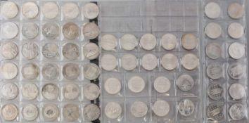 60 x 10 Euro Deutschland verschiedene Jahre, teilweise doppelt, Zustand bfr