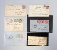 Mappe Briefbelege Altdeutschland / Norddeutscher Postbezirk 1868/70 11 Briefbelege, Michel-Wert laut