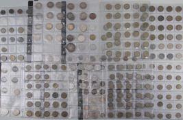 Konvolut Kleinmünzen Deutsches Reich u. BRD ca. 260 Stück, Ende 19. bis Mitte 20. Jh., Zustand ss-s,