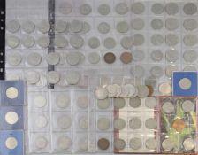 Konvolut DDR Münzen ca. 100 Stück, 5 - 20 Mark, Zustand bfr.