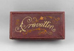 Jugendstilschatulle Krawatten. um 1900/20, rechteckige Schatulle, geklebter profilierter