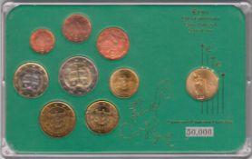 Euro-Kursmünzen-Satz Slowakei 2009 .. Euro Kursmünzen, 1 Cent bis 2 Euro (insg. 3,88 €) +