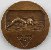Dubois, Bronze-Medaille Schwimmer.. alt, signiert Vs H. Demey, signier Rs H. Dubois, auf Rand