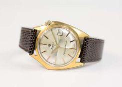 Zodiac Herrenarmbanduhr, Olympos Automatic Date, Automatik, Gehäuse Stahl, vergoldet, Durchmesser 36