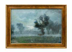 Carl Busch (1905 Münster - 1973) Nächtliche Landschaft, Öl auf Platte, 52 cm x 68 cm, unten rechts