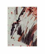 Sonderborg (20. Jh., Deutschland) 3-tlg., Abstrakte Kompositionen, Aquarell und Tusche auf Papier,