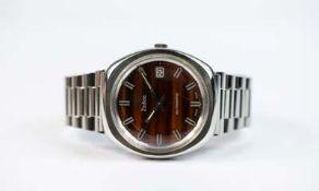 Zodiac Herrenarmbanduhr, Automatic Date, Automatik, Gehäuse Stahl, Durchmesser 36 mm, Armband Stahl,