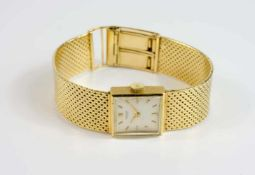 International Watch Co. Damenarmbanduhr, ca. 1950, Handaufzug, Gehäuse 750 Gelbgold, Durchmesser