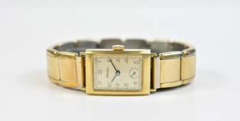 Alpina Damenarmbanduhr, Handaufzug, Gehäuse 585 Gelbgold, Durchmesser 19 mm, Armband Edelstahl,