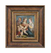 Flämischer Meister (19. Jh.) Die Heilige Familie mit dem Johannesknaben und der heiligen Katharina