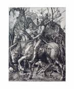 Albrecht Dürer (1471 Nürnberg - 1528 ebenda) Ritter, Tod und Teufel, Kupferstich auf Papier, 1513,