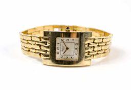 Chopard Damenarmbanduhr, Handaufzug, Gehäuse 750 Gelbgold, Durchmesser 25 mm, Armband 750