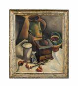 Richard Seewald (1889 Arnswalde/ Neumark - 1976 München) Stillleben mit Kaffeemühle und Krug, Öl auf