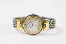 Charriol Damenarmbanduhr, Columbus, 2004, Quarz, Gehäuse Stahl und 750 Gelbgold, Durchmesser 28