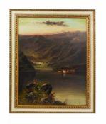 Alfred I de Breanski (1852 Greenwich - 1928 London) Highlands in Schottland mit trinkenden Rindern