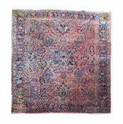 Amerikanischer Sarough Persien, Wolle auf Wolle, 352 cm x 260 cm, mit zwei Rissen, partiell sehr