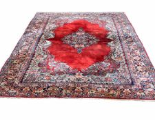 Sarough Persien, Wolle auf Baumwolle, Ghaziabad, 480 cm x 277 cm, reinigungsbedürftig, Druckstellen
