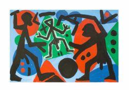 A. R. Penck (1939 Dresden - 2017 Zürich) (F) Bedrängt, Öl auf Leinwand, 60 cm x 90 cm, A. R.