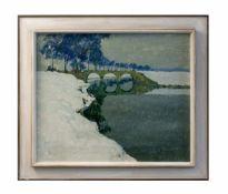 Max Clarenbach (1880 Neuss - 1952 Wittlaer) Winterlandschaft, Öl auf Leinwand, 50 cm x 60 cm,
