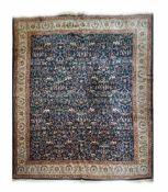 Sarough Persien, Wolle auf Wolle, 410 cm x 310 cm, Flecken an den Fransen