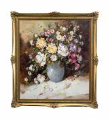 Ingfried Paul Henze-Morró (1925 Leipzig - 2013 am Gardasee) Blumenbouquet, Öl auf Leinwand, 80,2