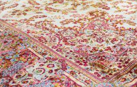 Kirman Persien, Baumwolle auf Wolle, 638 cm x 385 cm, reinigungsbedürftig