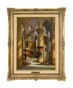 Henry Thomas Schäfer (1854 - nach 1915, war tätig in London) Messe im Mailänder Dom, Öl auf