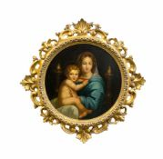 Luigi Pompignoli (19. Jh., Italien) Maria mit dem Christuskind, nach Raffaels 'La Madonna dei