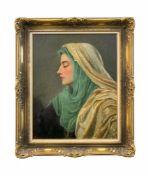 Robert Hawke Dowling (1827 - 1886, Australien) Die Syrerin, Öl auf Leinwand, 46 cm x 36 cm, unten