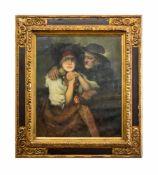 Robert Frank-Krauss (1893 Fürth - 1950 München) Paar in Dachauer Tracht, Öl auf Leinwand, 72,5 cm