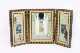 Gaston Bogaert (1918 Le Mans - 2008 Etterbeek) (F) Aufklappbares Triptychon, Öl auf Platten, je 34,5