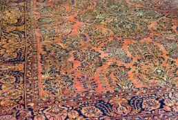 Amerikanischer Sarough Persien, Wolle auf Wolle, 450 cm x 305 cm, leichte Farbunterschiede, partiell