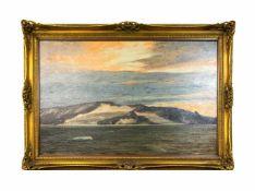 Georg Macco (1863 Aachen - 1933 Düsseldorf) Polarnacht, Öl auf Leinwand, doubliert, 85 cm x 133,5