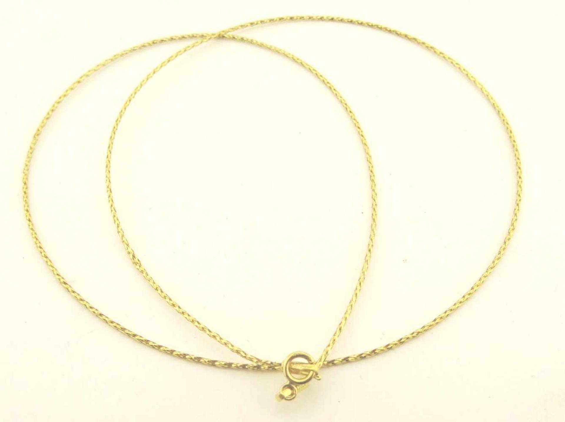 Los 34 - Schlauchkette 750 Gold Schlauchkette 750 Gold, Breite ca. 1,0mm, Länge ca. 50cm, Gewicht ca. 1,2g