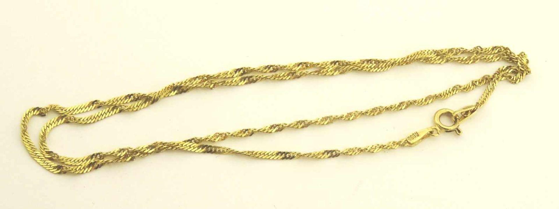 Los 27 - Singapur Kette 585 Gold Stärke 1,8mm, Länge ca. 45cm, Gewicht ca. 2,5g