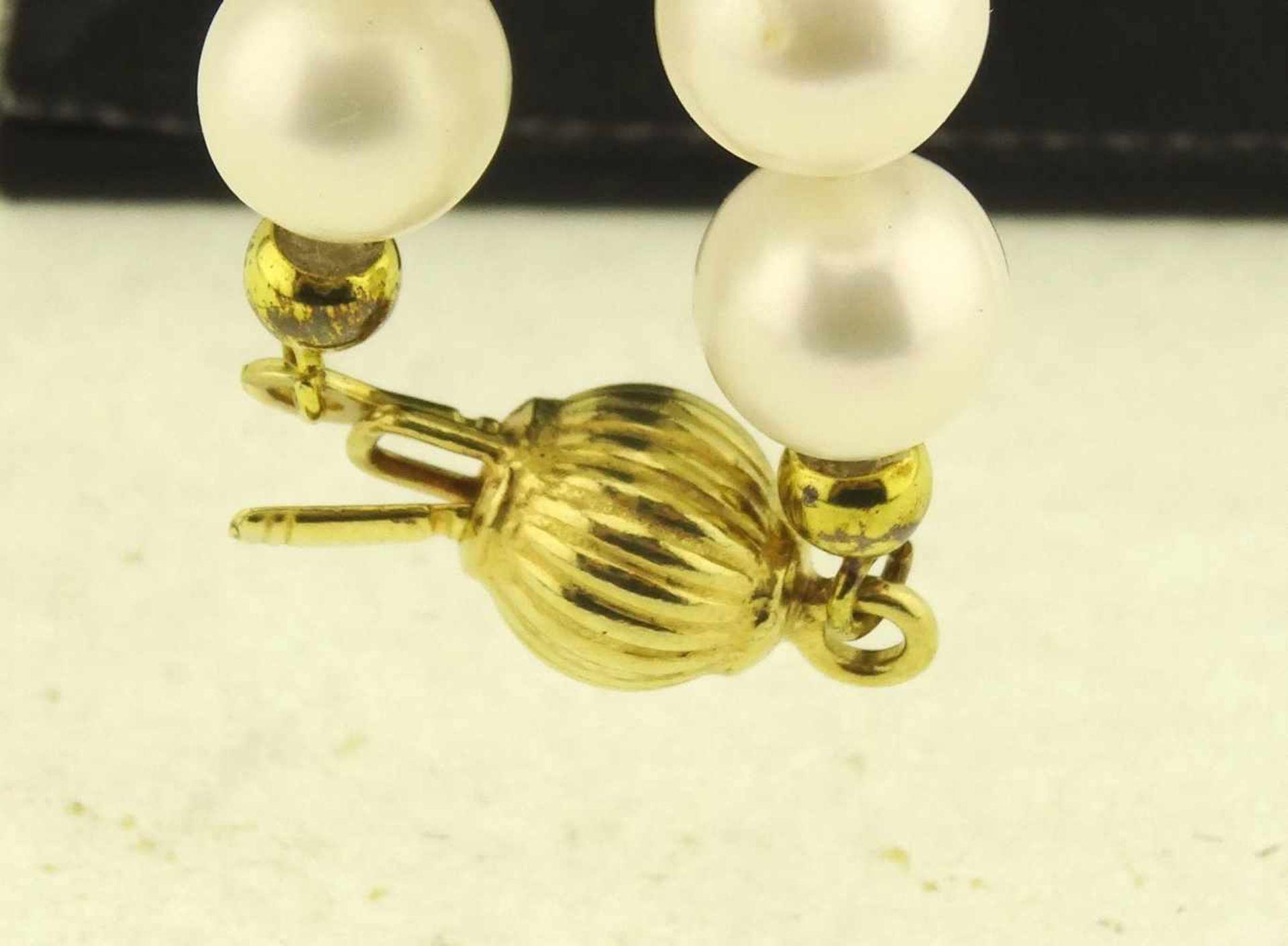 Los 12 - Süßwasser Zuchtperlenkette mit Silberverschluß schöne SWZP-Kette mit 925 Silber, vergoldeter