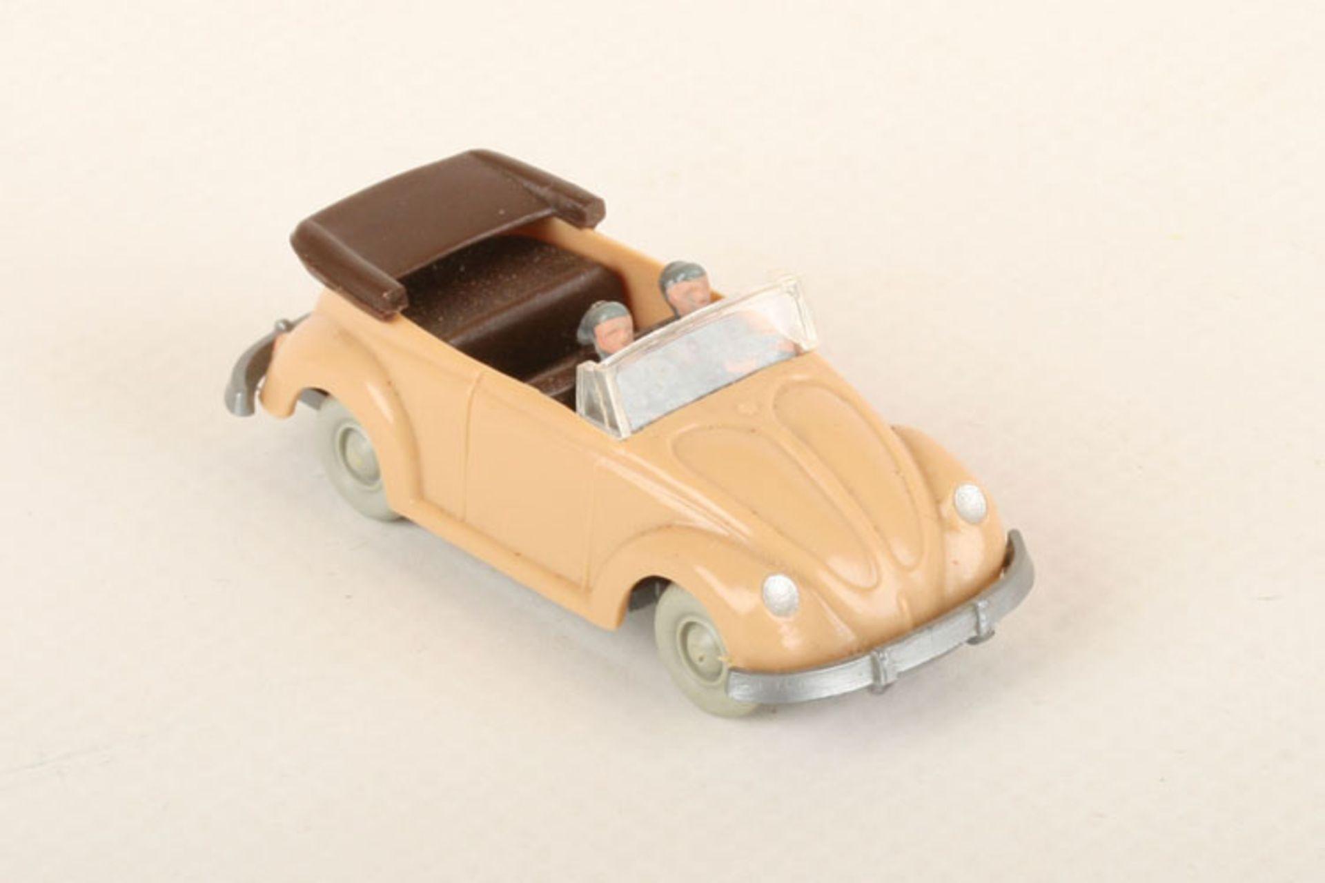 Los 1014 - Wiking VW Käfer Cabrio beige 33/3w, IE schokobraun, neuwertig