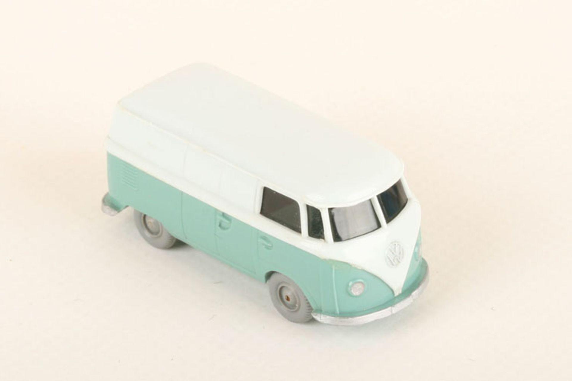 Los 1058 - Wiking VW T1 Kasten h'wässrigblau/türkis 300/9, sehr gut