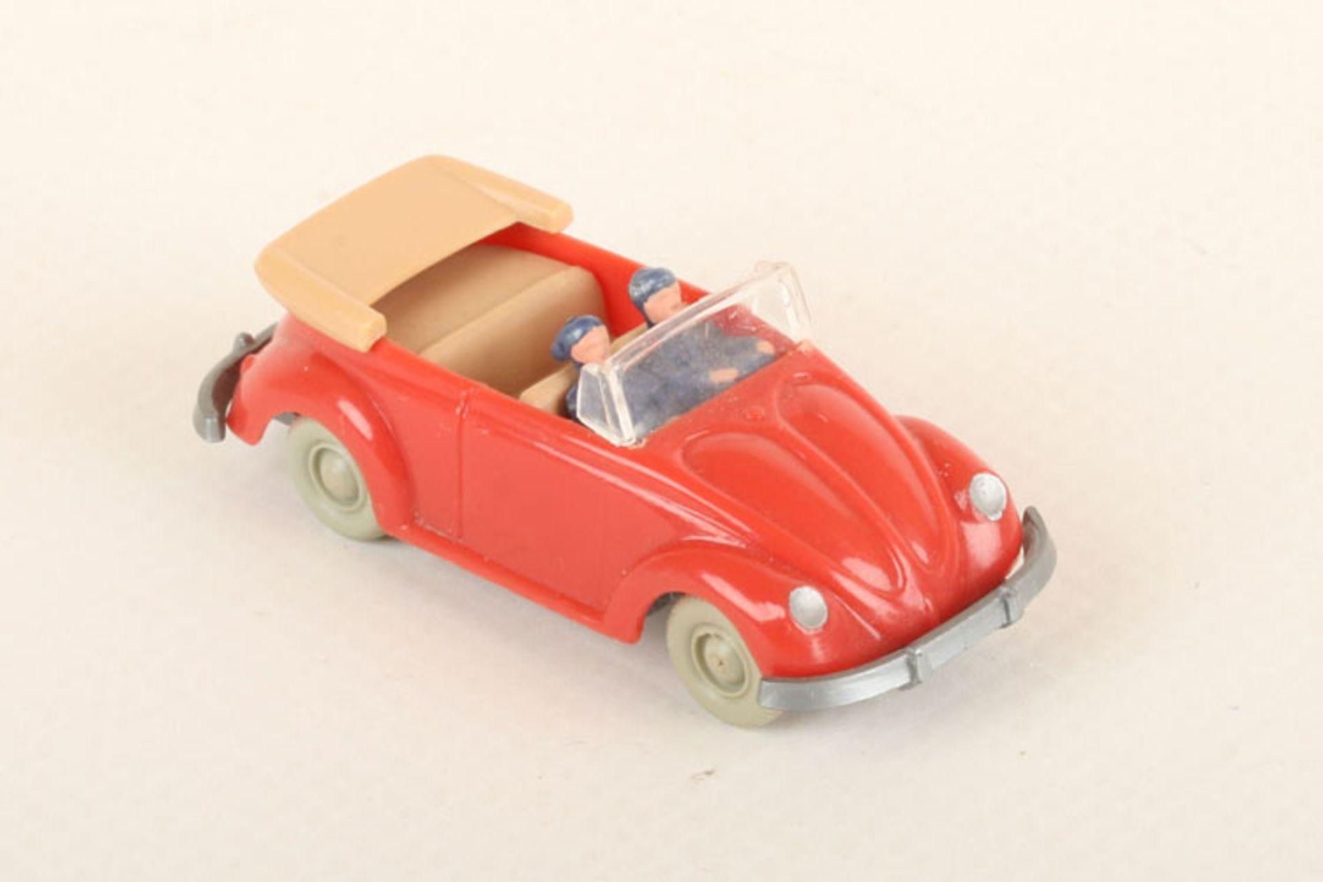 Los 1022 - Wiking VW Käfer Cabrio rosé 33/3j, IE beige, neuwertig