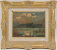 "REICHSTETTER. Seaview, oil on cardboard, signed and framed. Signed ""Reichstetter"" (lower right)"