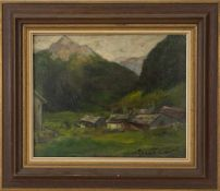 Alpine view, Artist of the 20th century, oil on canvas, signed. signed (lower right) Teronari(?) and