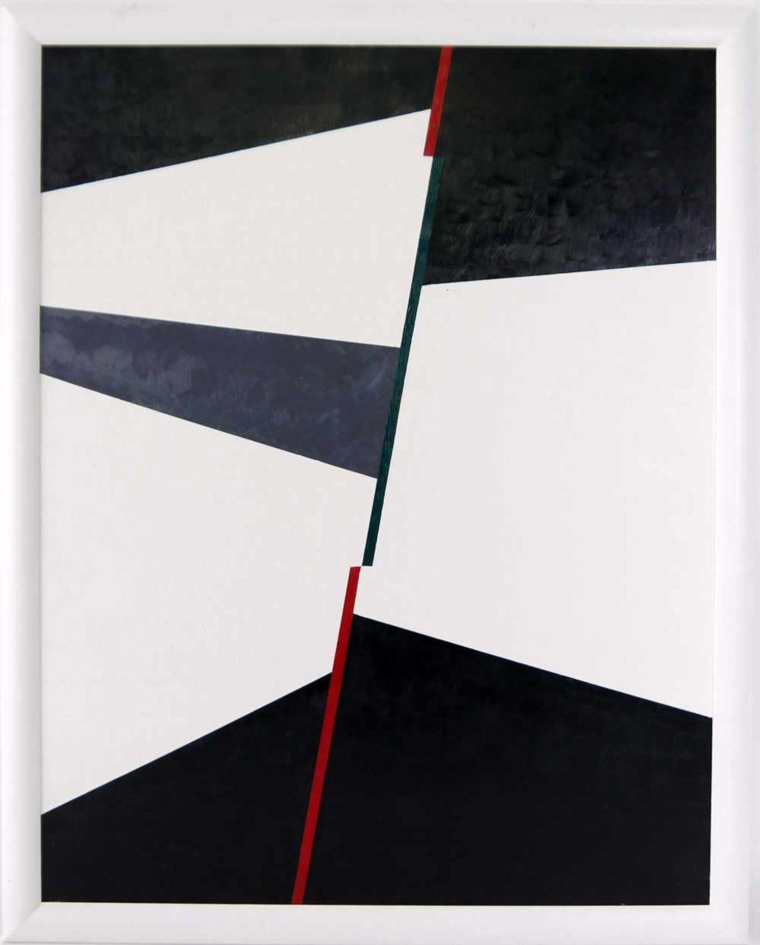 Los 49 - WILLEM KERKMAN. Rot-Grün-Rote Trennung, Öl auf Platte, gerahmt und signiert Rot-Grün-Rote