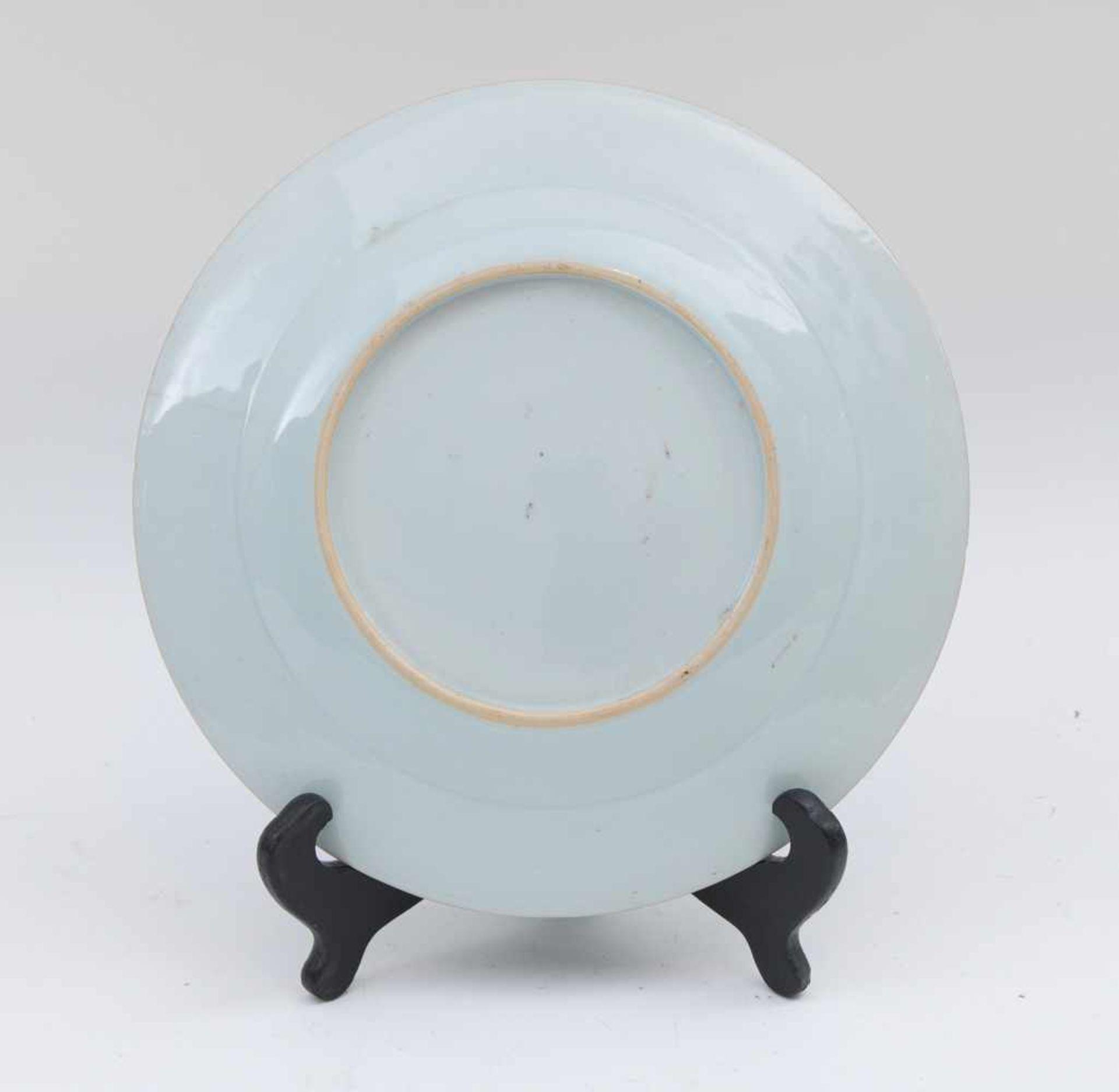 Los 35 - PORZELLANTELLER LOTUS, China, 20.Jahrhundert. Teller aus chinesischem Porzellan, unterglasurblau