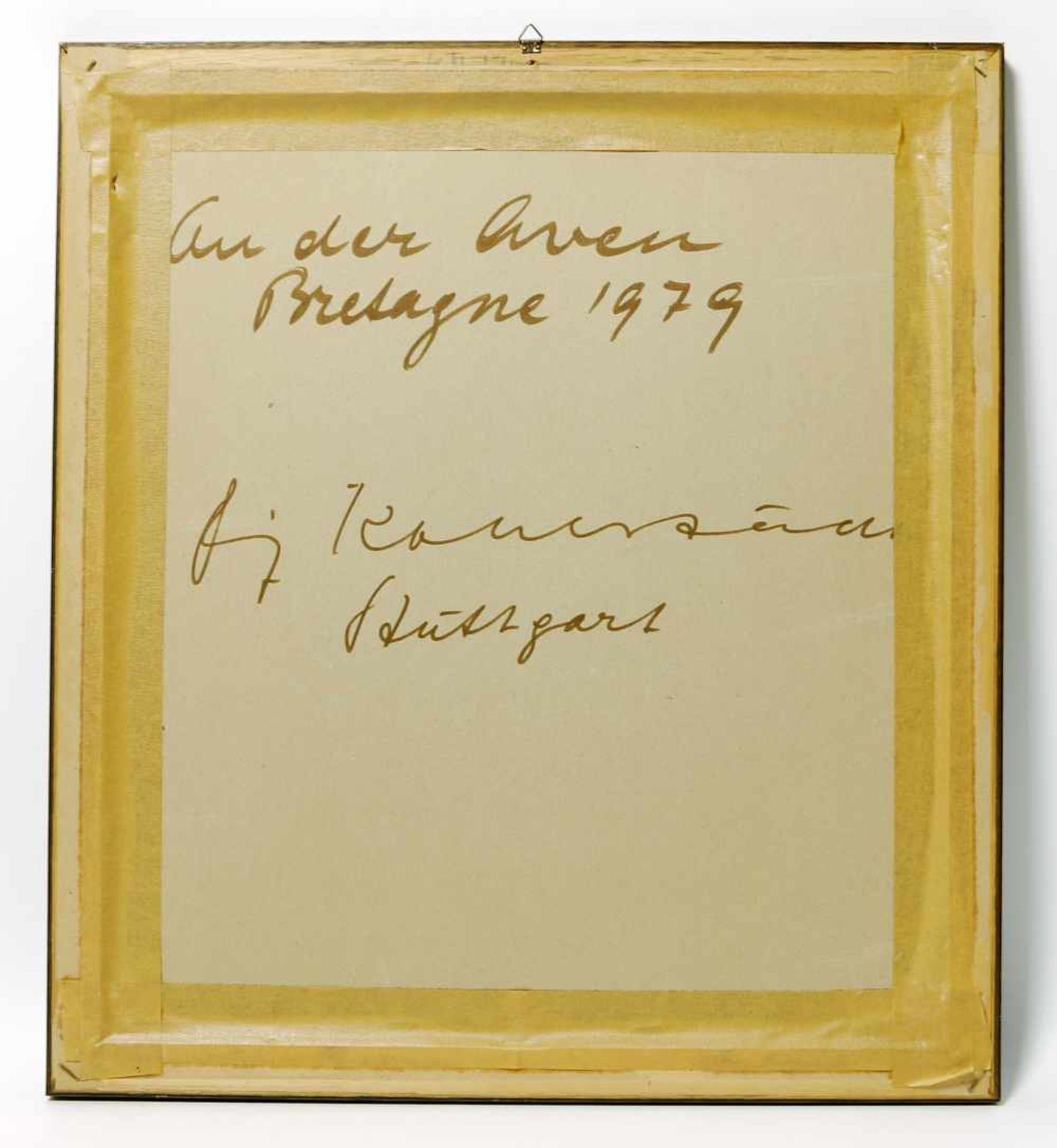 Los 52 - FRITZ KOHLSTÄDT. An der Aven/ Bretagne 1979, Wachskreide auf Papier, signiert und datiert.