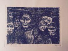 """FRITZ CREMER, """"Verwundete"""", Lithographie, signiert und datiert Fritz Cremer (1906-1993), Blatt von"""