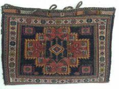 SATTELTASCHE AFSHAR, Persien Ende 19. Jahrhundert Sumactechnik, Maße: 77 x 54 cm. Zustand 1