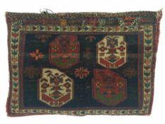 SATTELTASCHE AFSHAR, Persien Ende 19. Jahrhundert Luri Sumactechnik, Zustand 1.