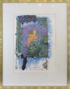 "FRIEDENSREICH HUNDERTWASSER. ""In Gamba"", Origninallithographie, Mixed-Media-Technik auf"