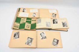 """AUTOGRAMM-SAMMLUNG """"DEUTSCHE STARS"""", vier Alben mit teils Autogrammkarten und signierten Bildern,"""